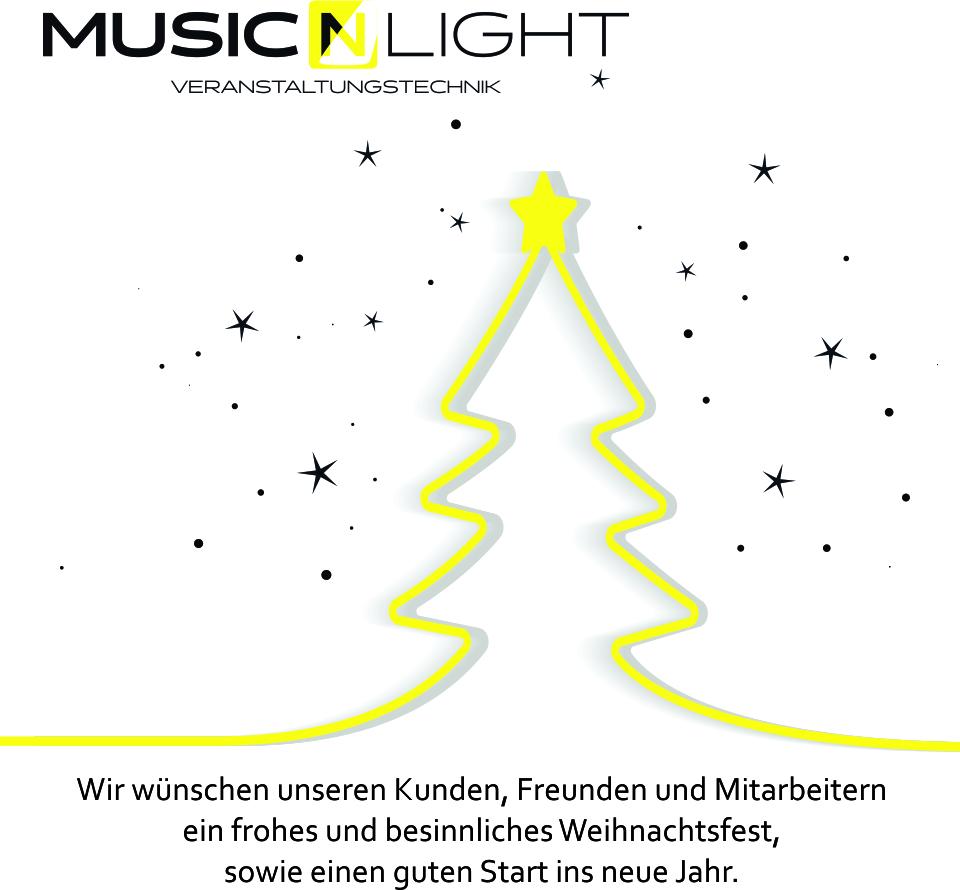 Music´n Light wünscht frohe Weihnachten